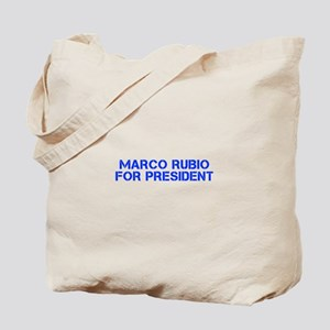 Marco Rubio for President-Cle blue 500 Tote Bag