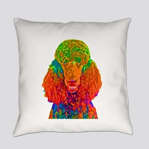 Psychadelic Poodle Everyday Pillow