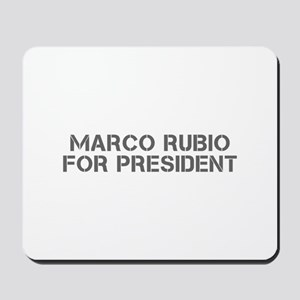 Marco Rubio for President-Cle gray 500 Mousepad
