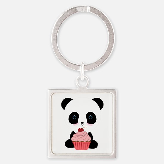 Panda Bear Cupcake Keychains