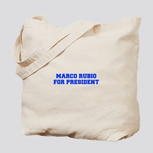 Marco Rubio for President-Fre blue 600 Tote Bag