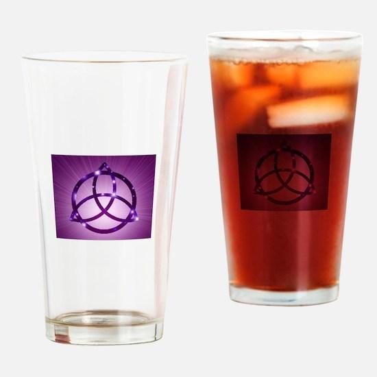 Trinity Knot Purple Drinking Glass