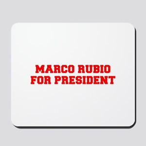 Marco Rubio for President-Fre red 600 Mousepad