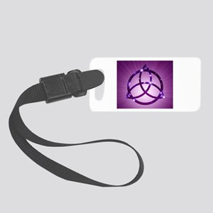 Trinity Knot Purple Luggage Tag
