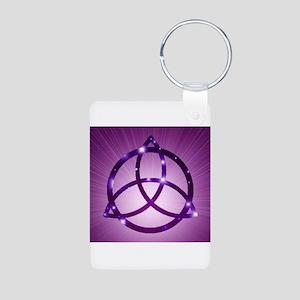 Trinity Knot Purple Keychains
