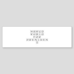 Marco Rubio for President-Kon gray 460 Bumper Stic