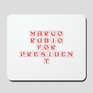Marco Rubio for President-Kon red 460 Mousepad