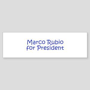 Marco Rubio for President-Kri blue 400 Bumper Stic