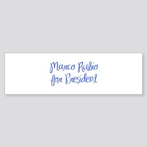 Marco Rubio for President-MAS blue 400 Bumper Stic
