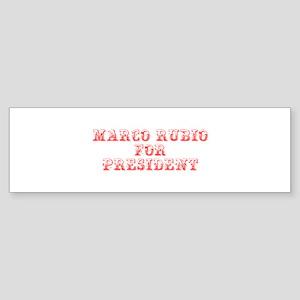 Marco Rubio for President-Max red 400 Bumper Stick
