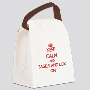 Keep Calm and Bagels And Lox ON Canvas Lunch Bag