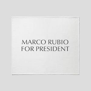 Marco Rubio for President-Opt gray 550 Throw Blank