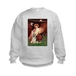 Seated Angel / G-Shepherd Kids Sweatshirt
