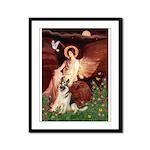 Seated Angel / G-Shepherd Framed Panel Print