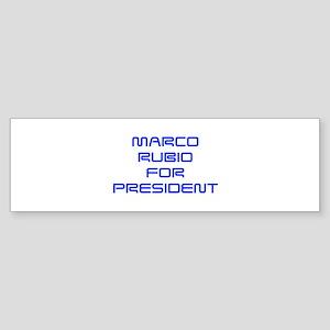Marco Rubio for President-Sav blue 410 Bumper Stic
