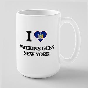 I love Watkins Glen New York Mugs