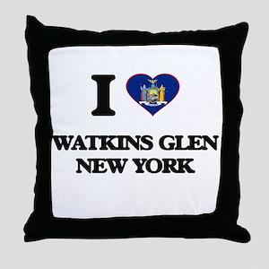 I love Watkins Glen New York Throw Pillow