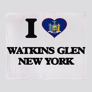 I love Watkins Glen New York Throw Blanket