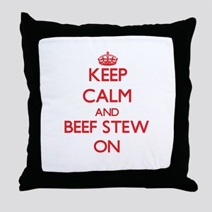 Keep Calm and Beef Stew ON Throw Pillow