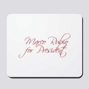 Marco Rubio for President-Scr red 440 Mousepad