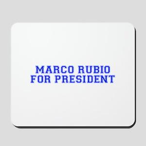 Marco Rubio for President-Var blue 500 Mousepad