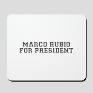 Marco Rubio for President-Var gray 500 Mousepad