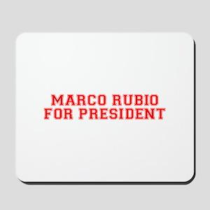 Marco Rubio for President-Var red 500 Mousepad