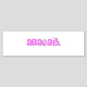 Abagail Flower Design Bumper Sticker