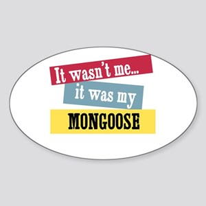 Mongoose Oval Sticker