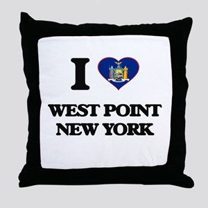 I love West Point New York Throw Pillow