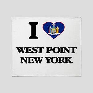 I love West Point New York Throw Blanket
