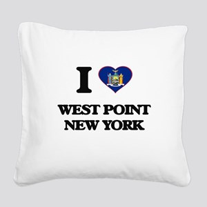 I love West Point New York Square Canvas Pillow