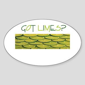 Got Limes? Oval Sticker
