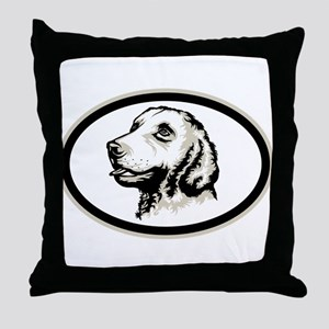 Curly-Coated Retriever Throw Pillow