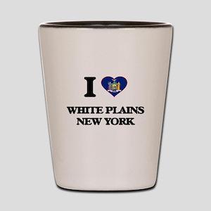 I love White Plains New York Shot Glass