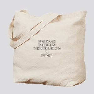 Marco Rubio President 2016-Kon gray 460 Tote Bag
