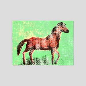 Checkered Pony 5'x7'Area Rug