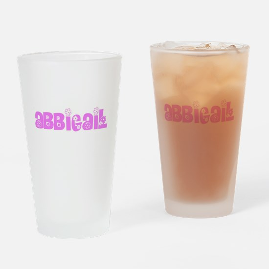 Abbigail Flower Design Drinking Glass