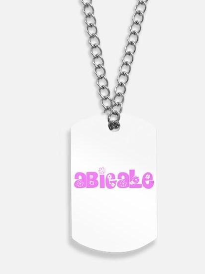 Abigale Flower Design Dog Tags
