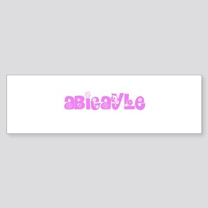 Abigayle Flower Design Bumper Sticker