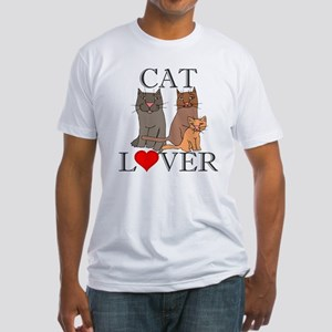 Cat Lover Fitted T-Shirt
