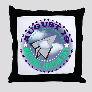 NATIONAL AVIATION DAY Throw Pillow
