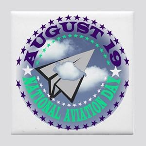 NATIONAL AVIATION DAY Tile Coaster
