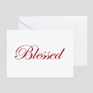 Red Blessed Greeting Card