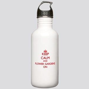 Keep Calm and Flower G Stainless Water Bottle 1.0L