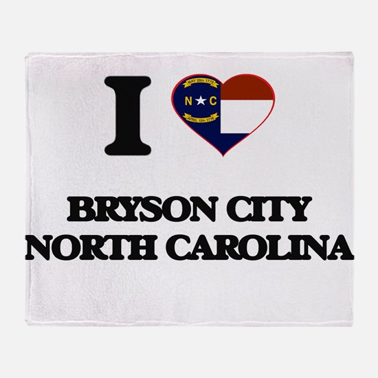 I love Bryson City North Carolina Throw Blanket