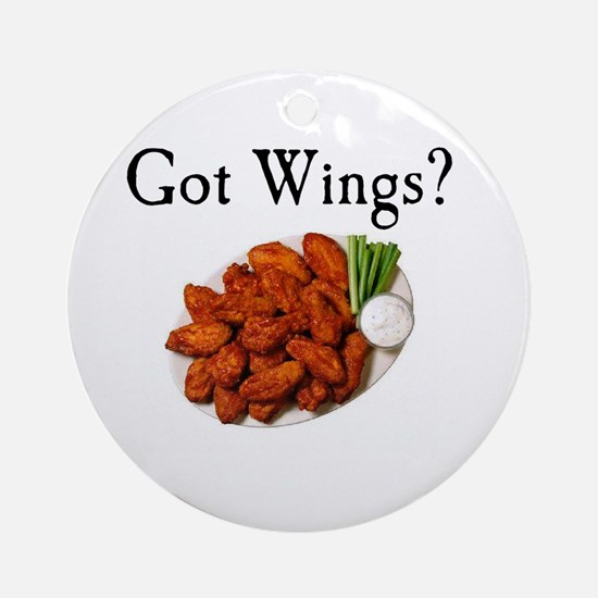 Wings Ornament (Round)