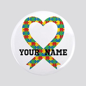 Personalized Autism Awareness Button
