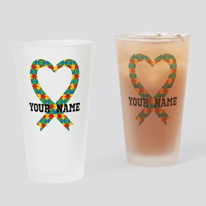 Personalized Autism Awareness Drinking Glass