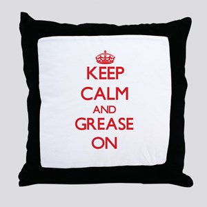 Keep Calm and Grease ON Throw Pillow